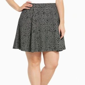 Torrid Metallic Knit Skater Skirt